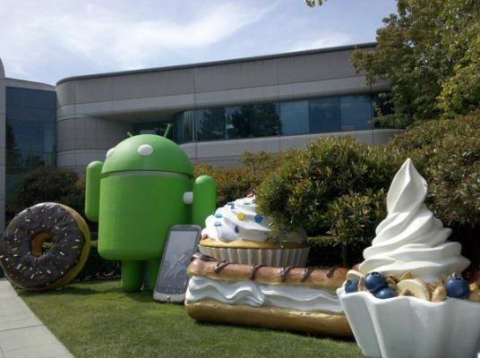 Android statues at Googleplex